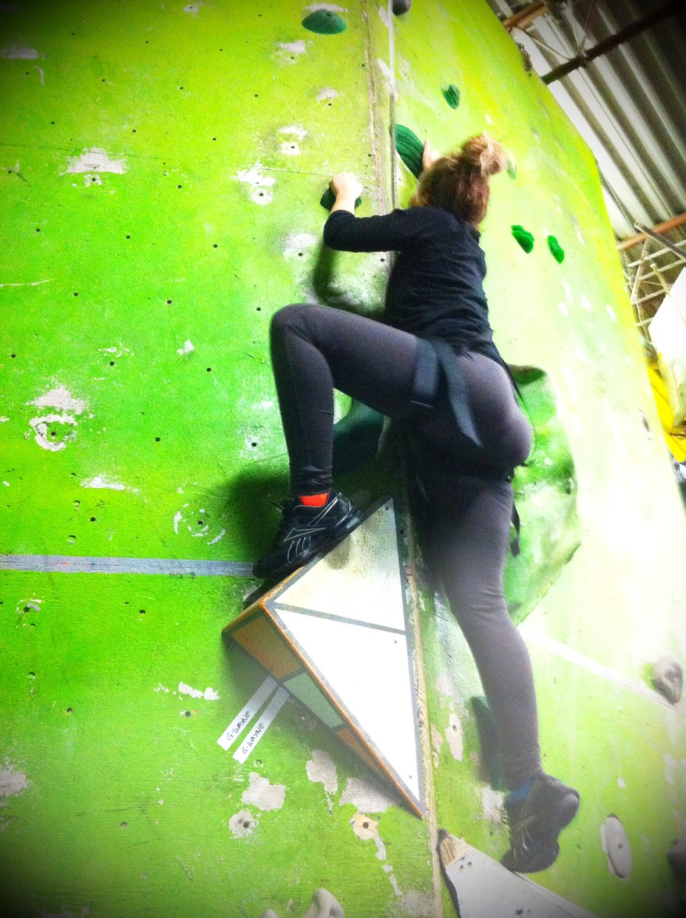 Here I go up the wall!